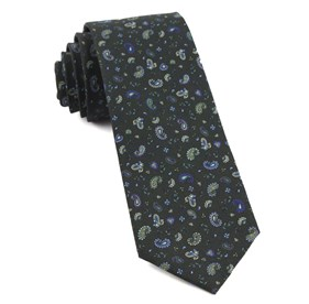 Dark Clover Green Barber Paisley ties
