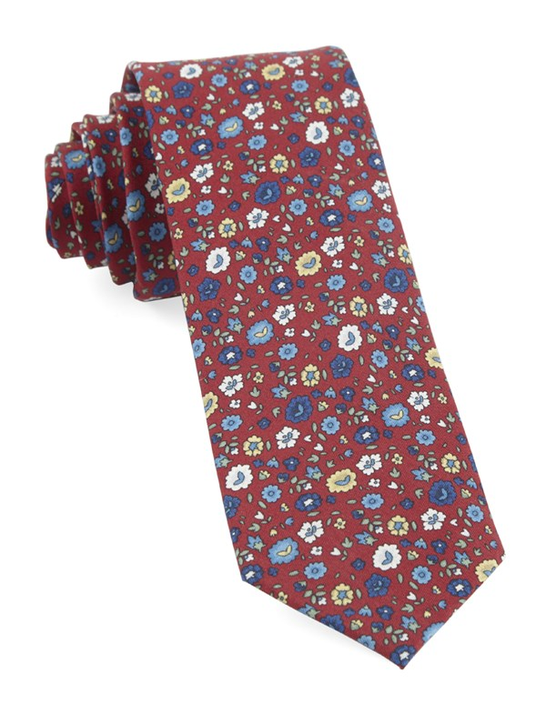 Morrissey Flowers Red Tie