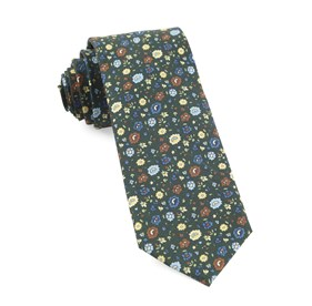 Morrissey Flowers Hunter Green Ties