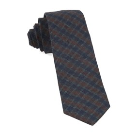 Navy Wentworth Plaid ties