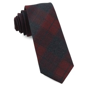 Burgundy Blackmore Plaid ties