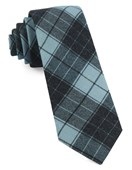 Ties - Blackmore Plaid - Pool Blue