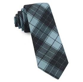 Pool Blue Blackmore Plaid ties
