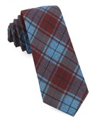 Ties - Merchants Row Plaid - Red