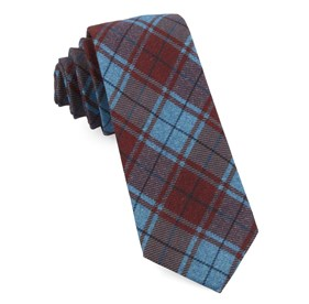 Merchants Row Plaid Red Ties