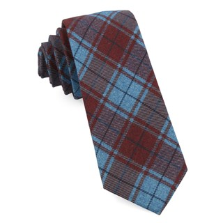 Merchants Row Plaid Red Tie