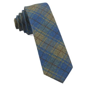 Merchants Row Plaid Classic Blue Ties