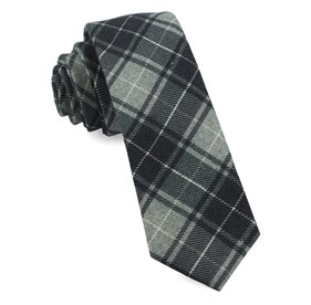 Merchants Row Plaid Grey Ties