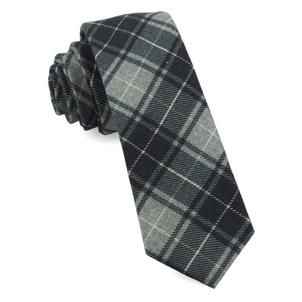 Grey Merchants Row Plaid Tie