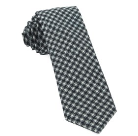 Black Brookline Street Houndstooth ties