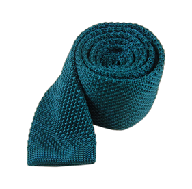 Teal Knitted ties