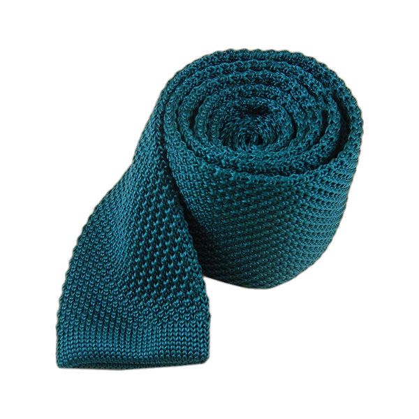 Teal Knitted Tie