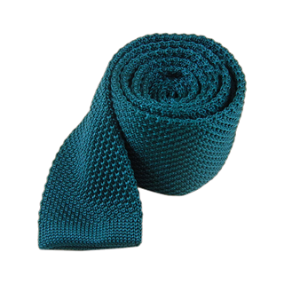 knitted teal ties