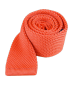 Ties - Knitted - Coral