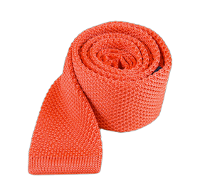 Coral Knitted ties