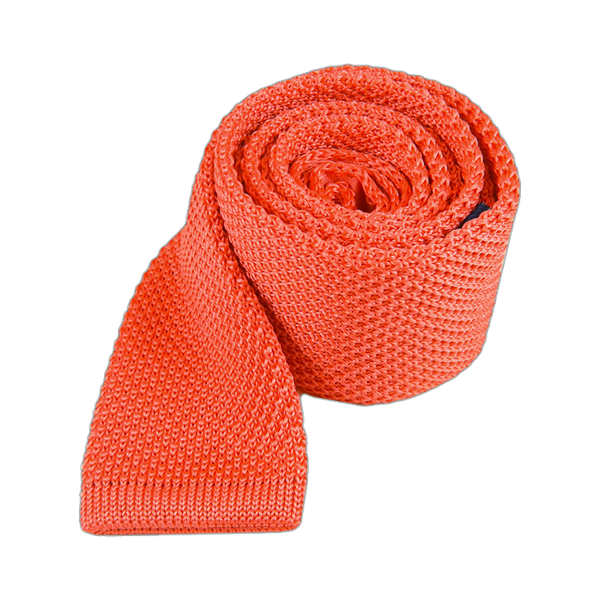 Coral Knitted Tie