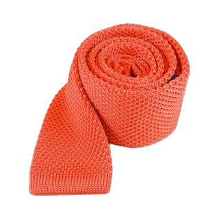 knitted coral ties