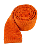 Ties - Knitted - Tangerine