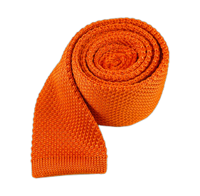 Tangerine Knitted ties