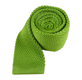 Apple Green Knitted ties
