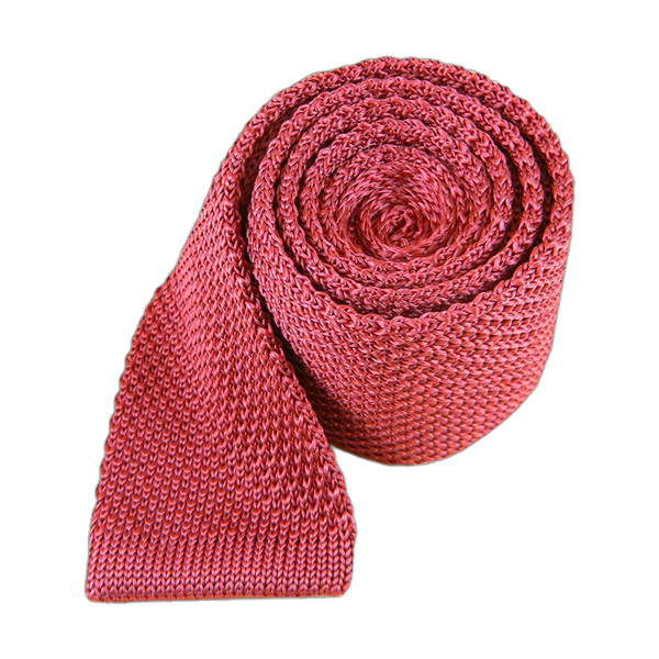 Dusty Rose Knitted Tie
