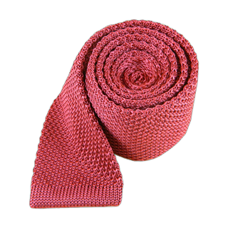 Knitted Dusty Rose Tie