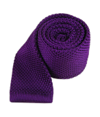 Ties - Knitted - Plum