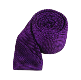 Plum Knitted ties