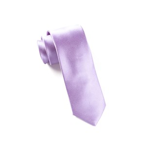 solid satin lavender ties