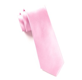 Baby Pink Solid Satin ties