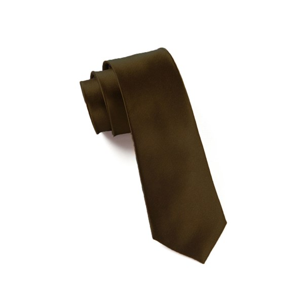 Chocolate Solid Satin Tie
