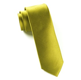 Olive Solid Satin ties
