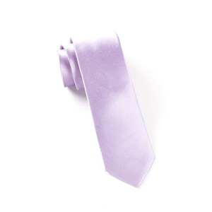solid satin lilac ties