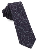 Ties - Kingsley Floral - Plum