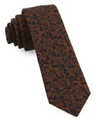 Ties - Kingsley Floral - Orange