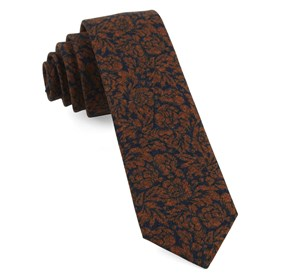 Orange Kingsley Floral ties