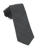 Ties - Woolf Houndstooth - Black