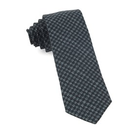 Navy Woolf Houndstooth ties