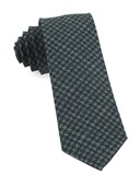 Ties - Woolf Houndstooth - Hunter Green