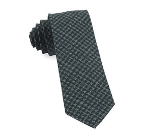 Woolf Houndstooth Hunter Green Ties