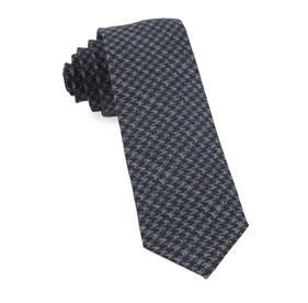 Eggplant Woolf Houndstooth ties