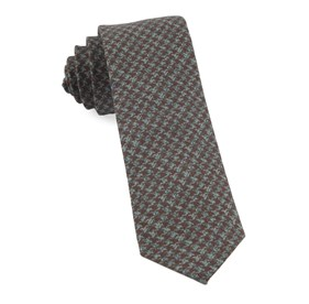 Cognac Woolf Houndstooth ties