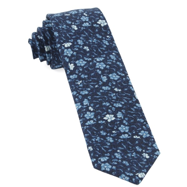 Navy Southey Floral Tie