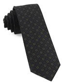 Ties - Webster Medallions - Dark Olive