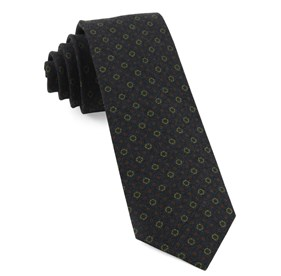 Webster Medallions Dark Olive Ties