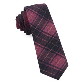 Merchants Row Plaid Magenta Ties