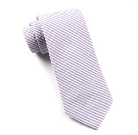 Soft Lavender Seersucker ties