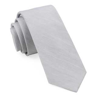 Bhldn Linen Row Silver Tie