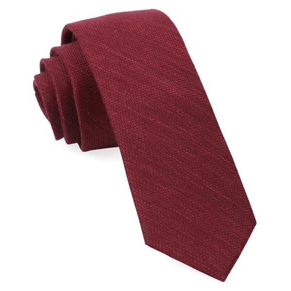 Black Cherry Bhldn Festival Textured Solid Tie