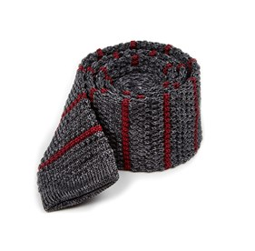 Burgundy Scramble Knit Stripe ties